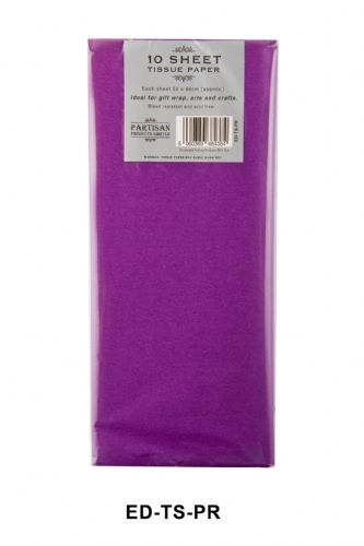 10 Sheet Tissue Paper Purple